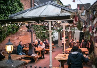 The Swan Cheltenham traditional beer garden