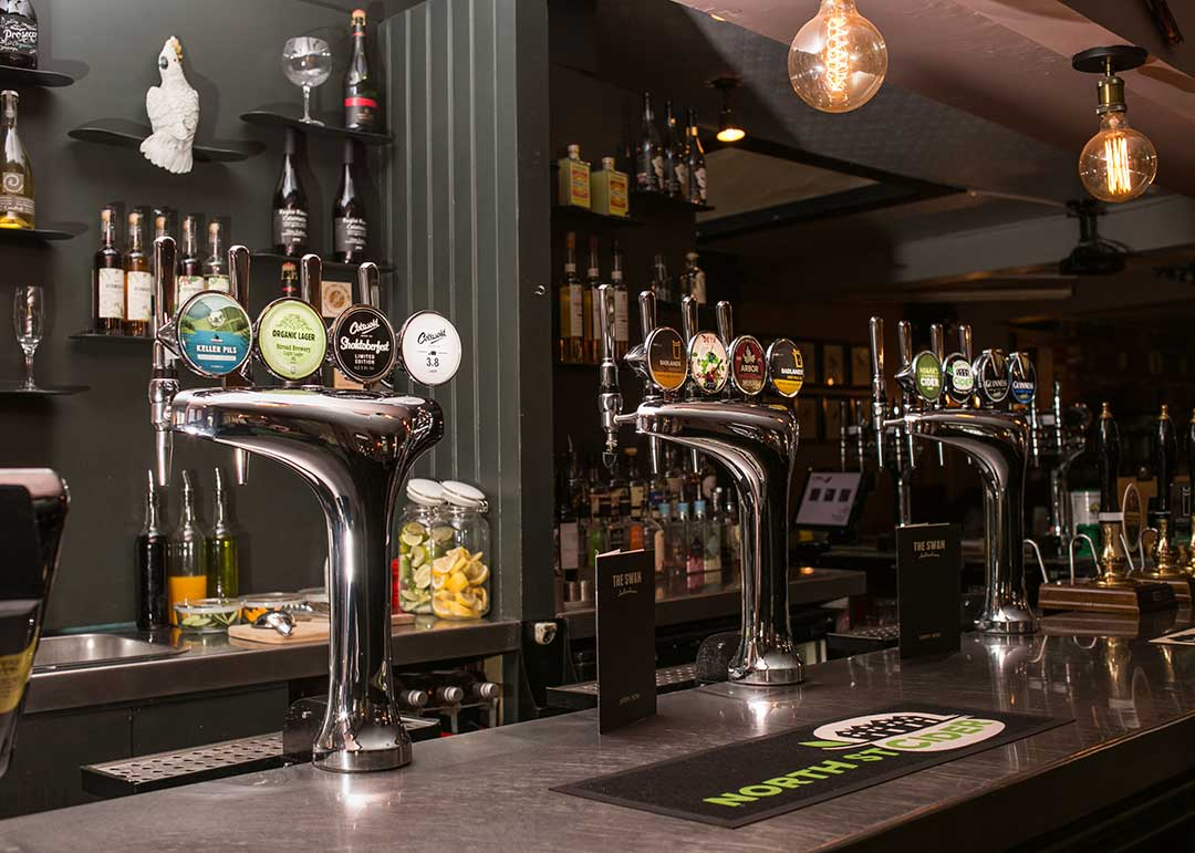 Drinks at The Swan, Cheltenham - draught ales, beer and cider